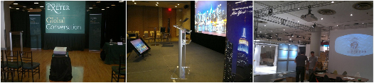Fastfold projector screen rental, HD projector rentals, New York computer rentals by AV NYC.